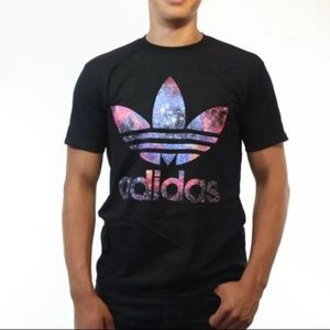 Adidas | Black Galaxy Trefoil Logo Tee Medium